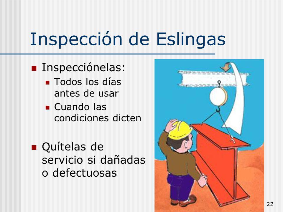 Inspección de Eslingas