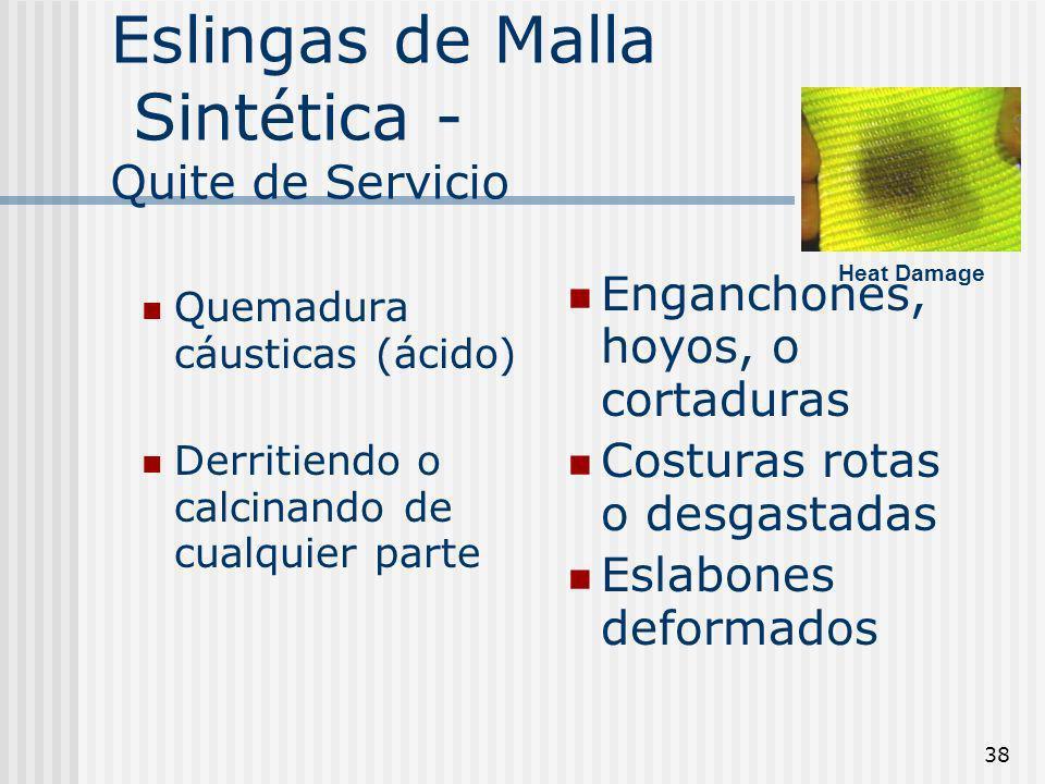Eslingas de Malla Sintética - Quite de Servicio