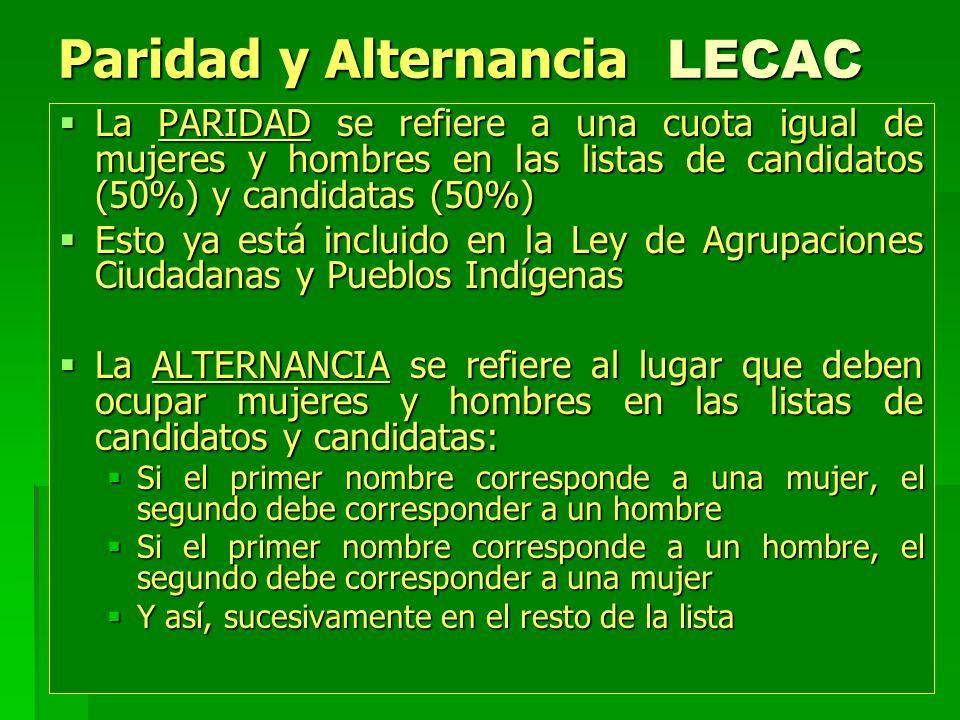 Paridad y Alternancia LECAC