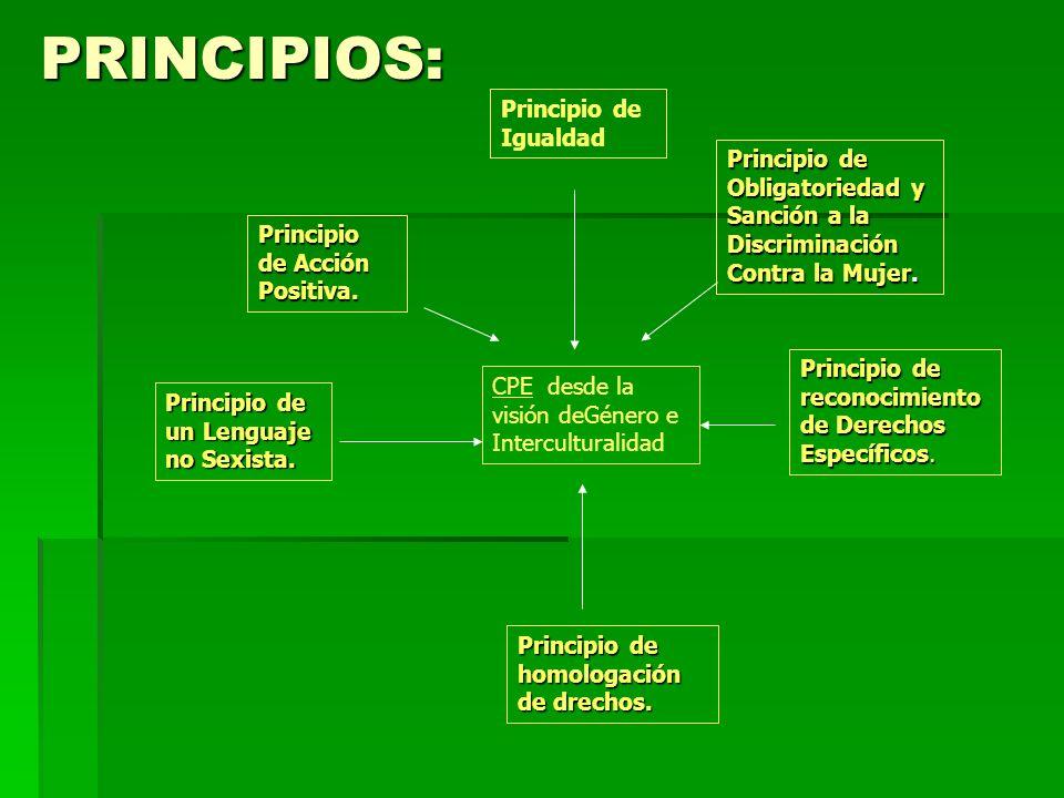 PRINCIPIOS: Principio de Igualdad