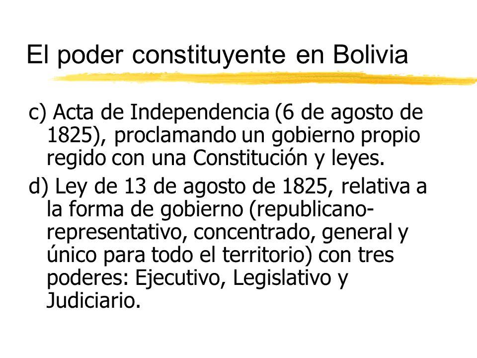 El poder constituyente en Bolivia