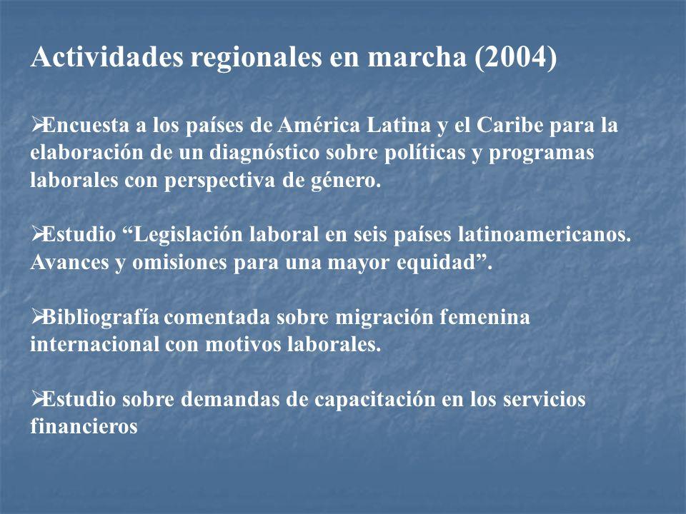Actividades regionales en marcha (2004)