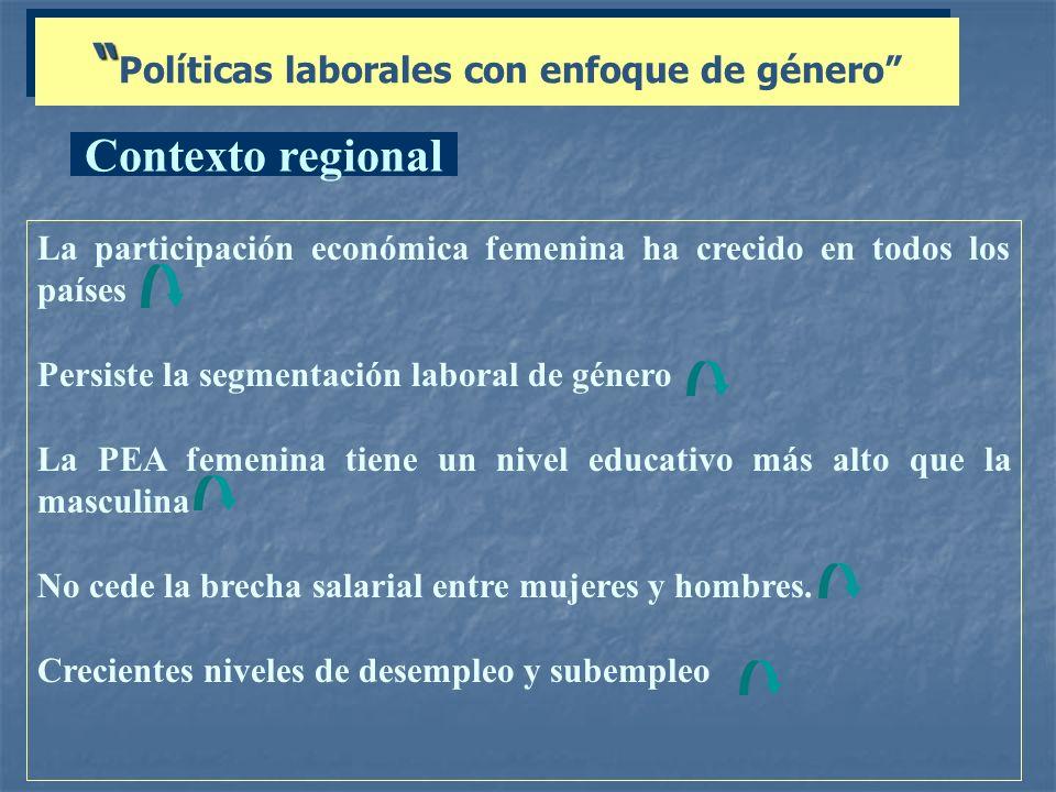 Políticas laborales con enfoque de género