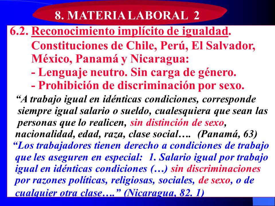 6.2. Reconocimiento implícito de igualdad.