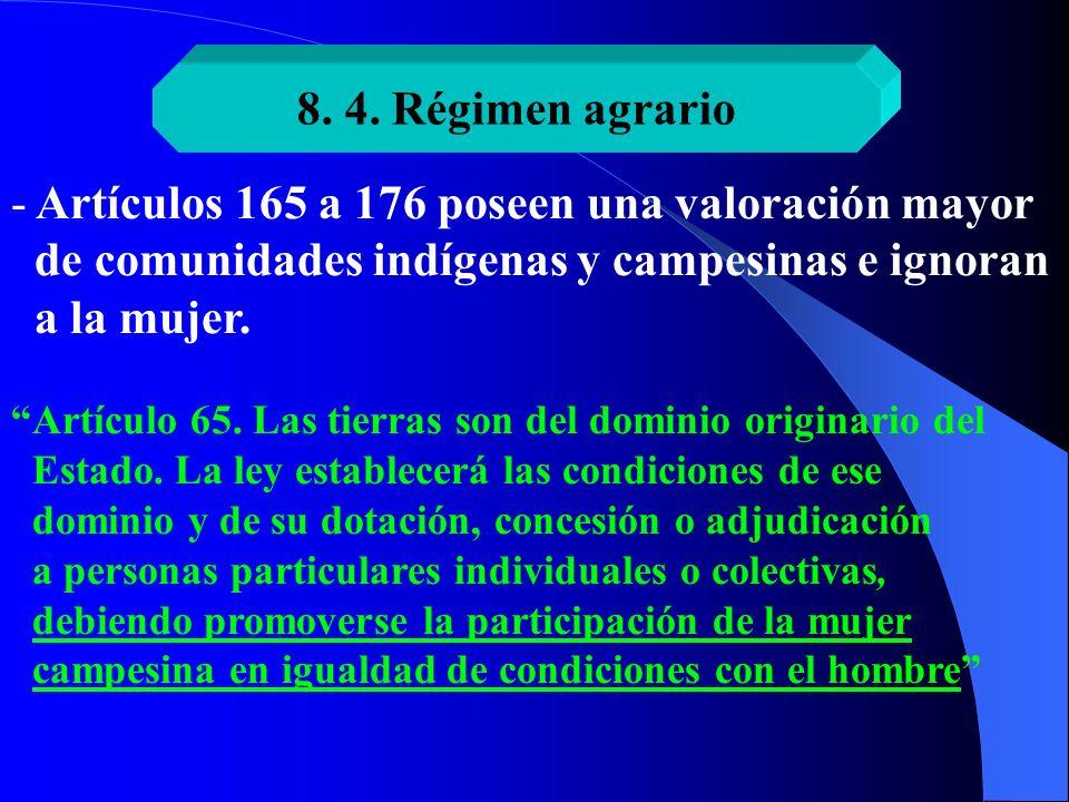 Artículos 165 a 176 poseen una valoración mayor