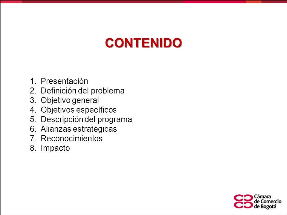 CONTENIDO Presentación Definición del problema Objetivo general