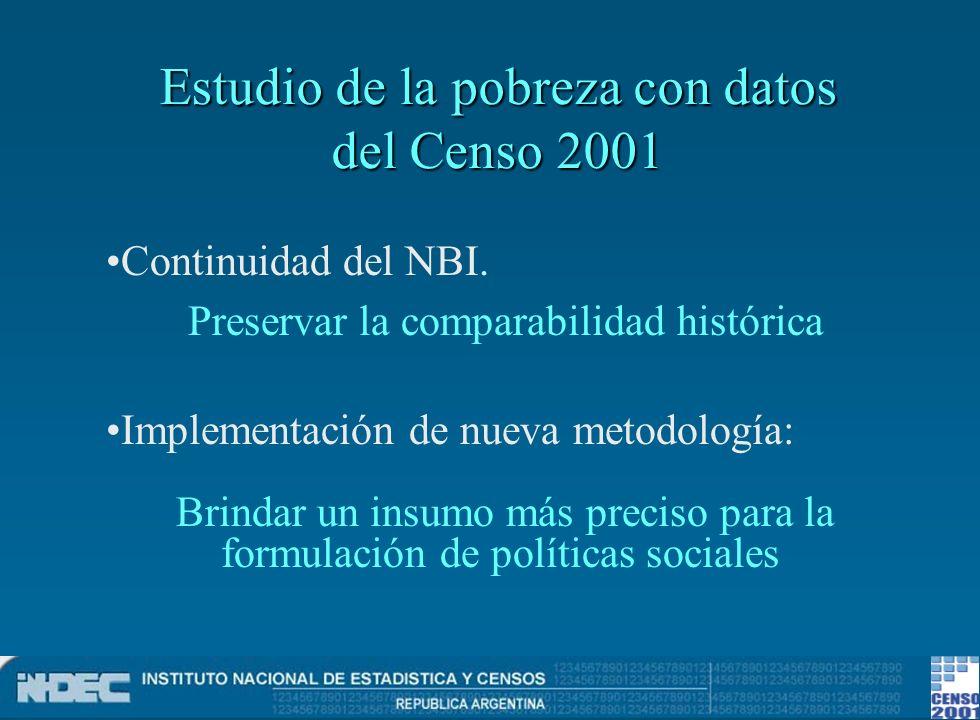 Estudio de la pobreza con datos del Censo 2001