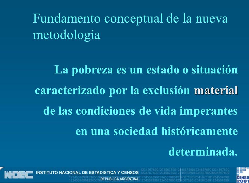 Fundamento conceptual de la nueva metodología