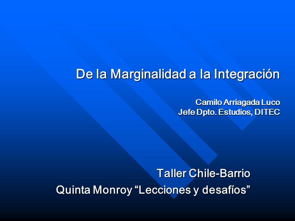 Taller Chile-Barrio Quinta Monroy Lecciones y desafíos