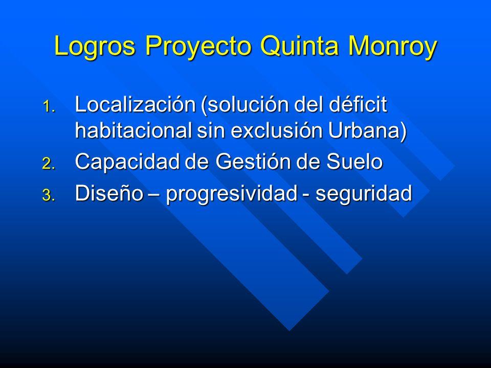 Logros Proyecto Quinta Monroy