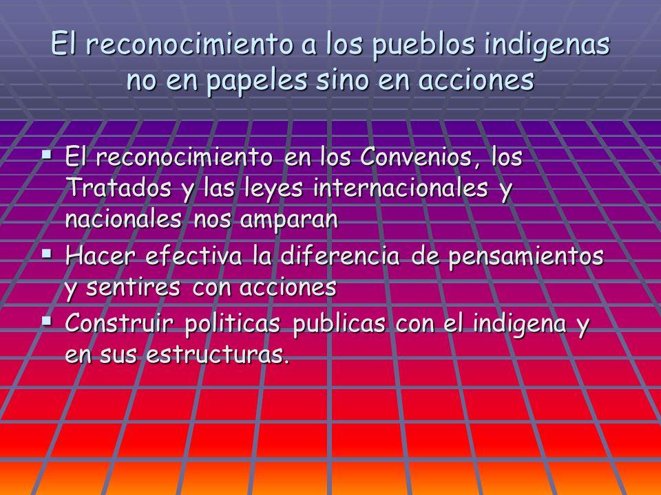 El reconocimiento a los pueblos indigenas no en papeles sino en acciones