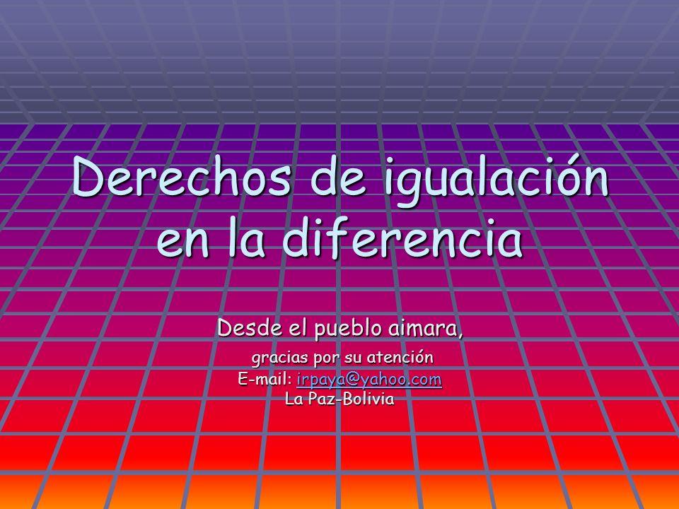 Derechos de igualación en la diferencia