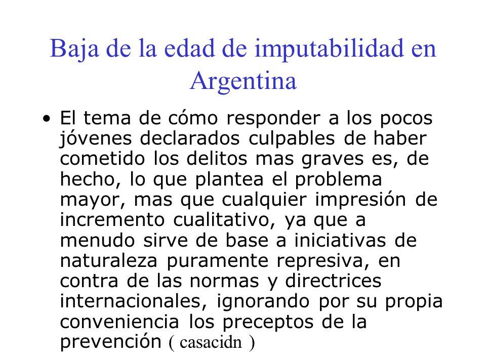 Baja de la edad de imputabilidad en Argentina