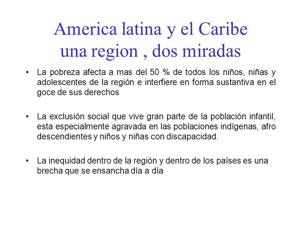 America latina y el Caribe una region , dos miradas