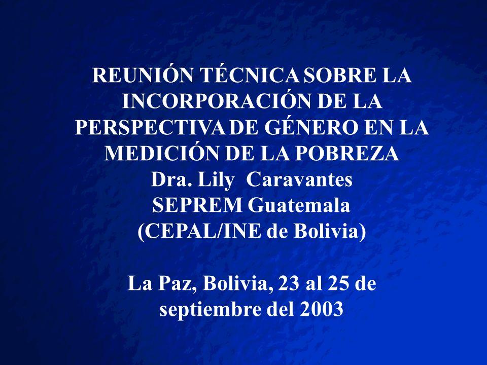 (CEPAL/INE de Bolivia)