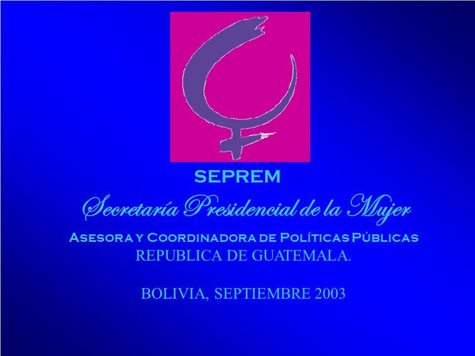 Secretaría Presidencial de la Mujer