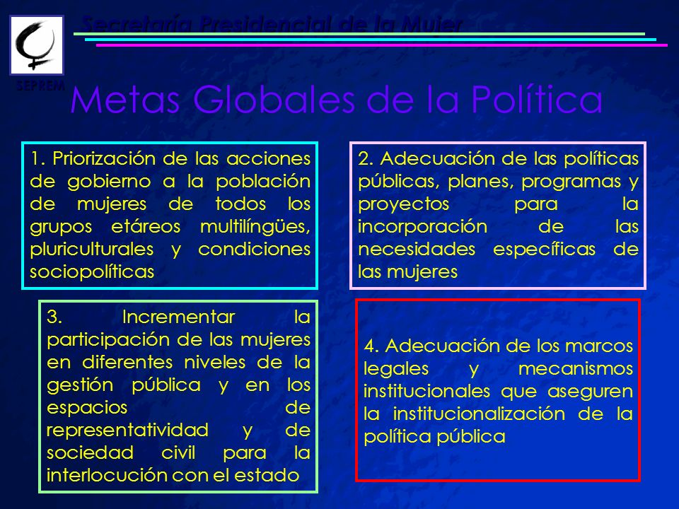 Metas Globales de la Política