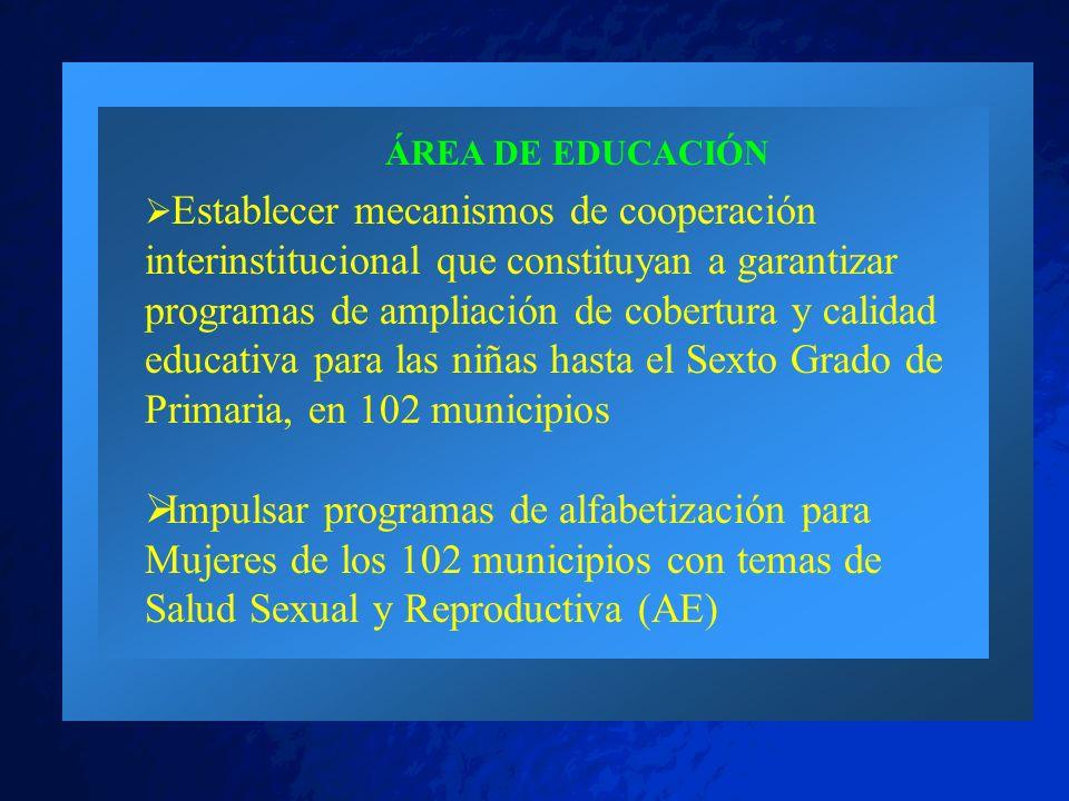 ÁREA DE EDUCACIÓN