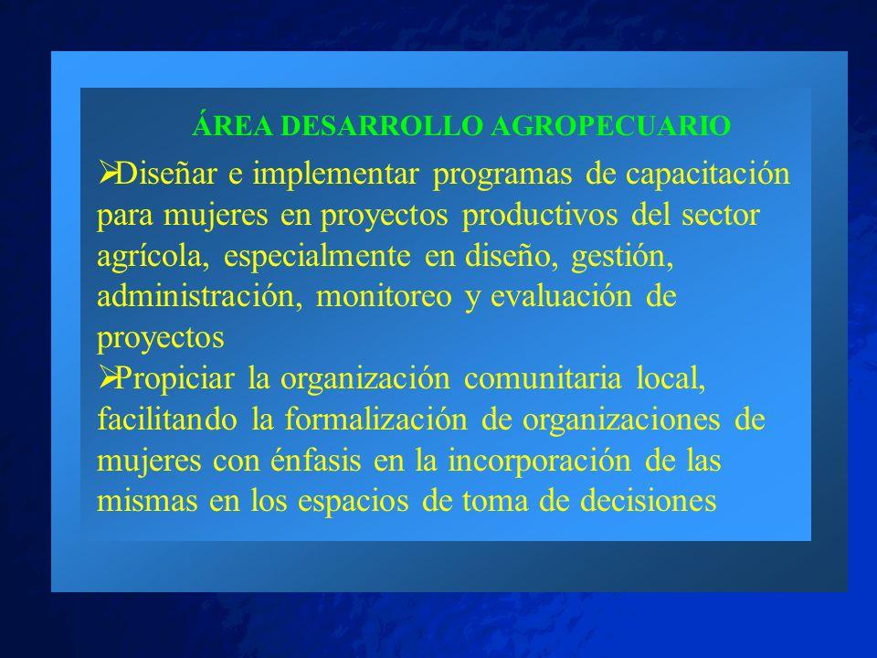 ÁREA DESARROLLO AGROPECUARIO