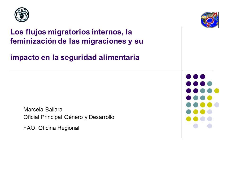 Los flujos migratorios internos, la feminización de las migraciones y su impacto en la seguridad alimentaria
