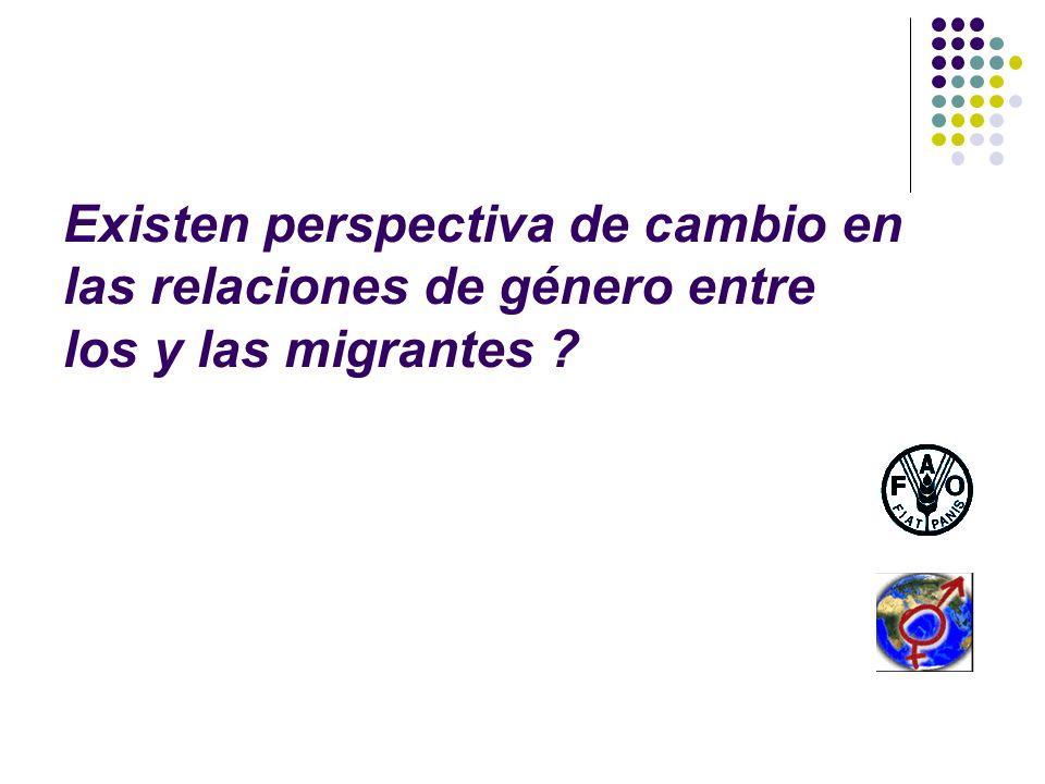 Existen perspectiva de cambio en las relaciones de género entre los y las migrantes