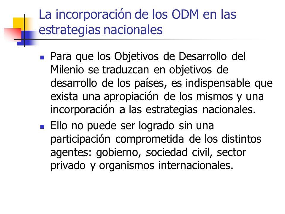 La incorporación de los ODM en las estrategias nacionales