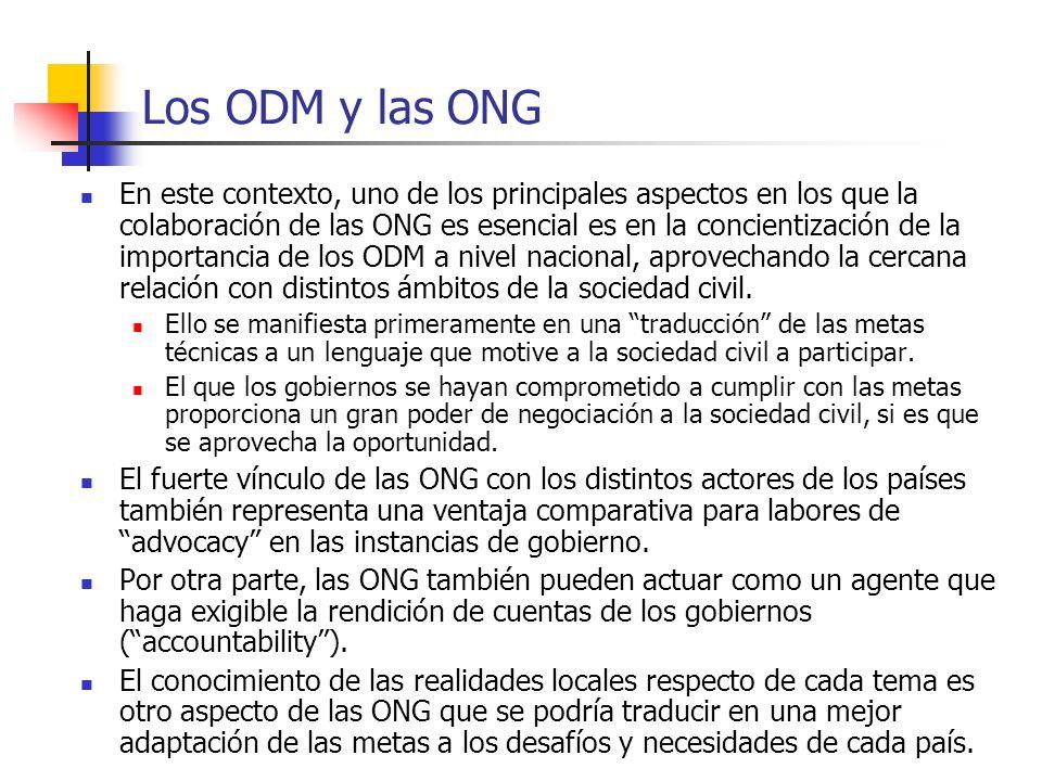 Los ODM y las ONG