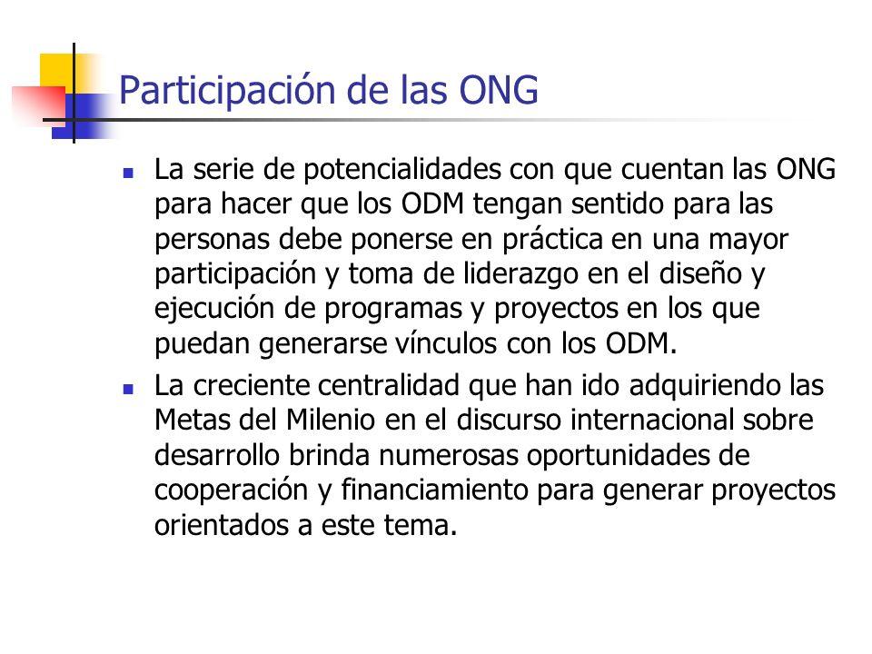 Participación de las ONG