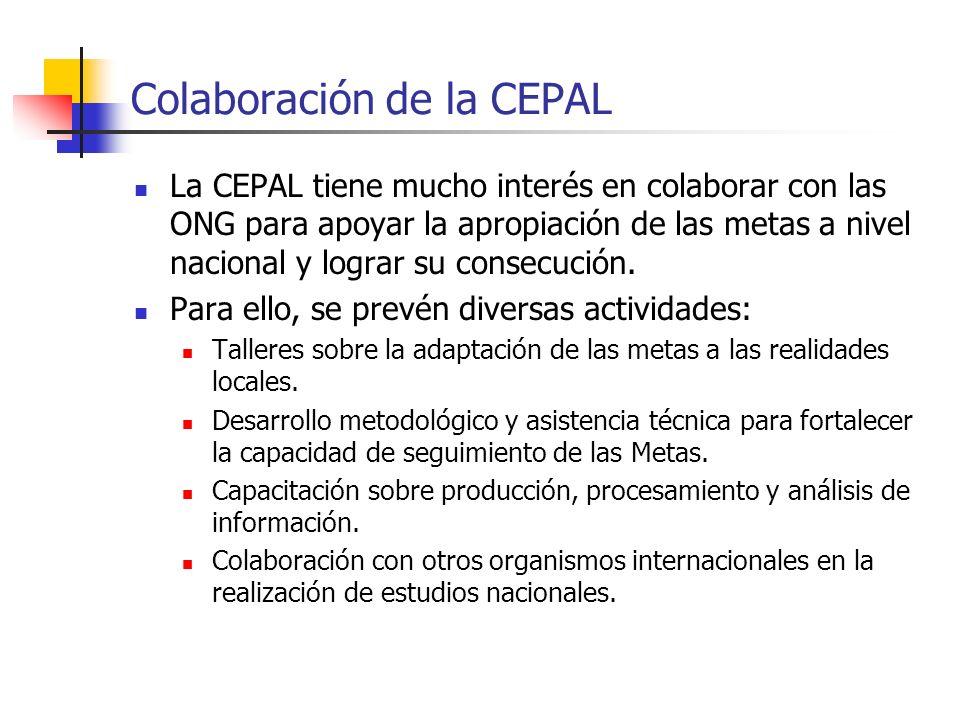 Colaboración de la CEPAL