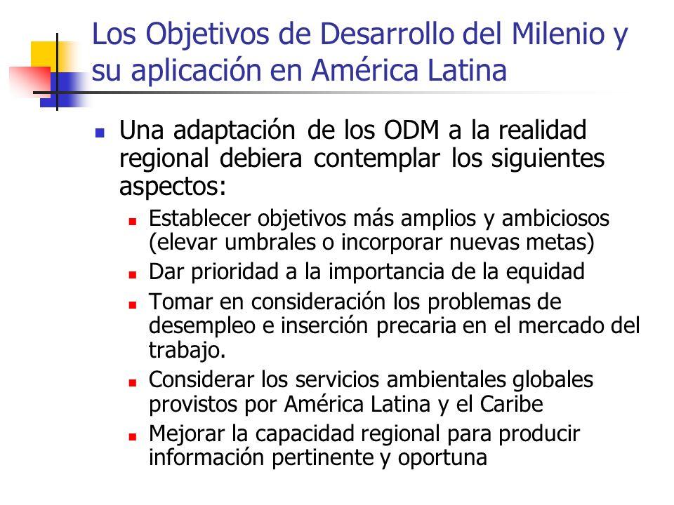 Los Objetivos de Desarrollo del Milenio y su aplicación en América Latina