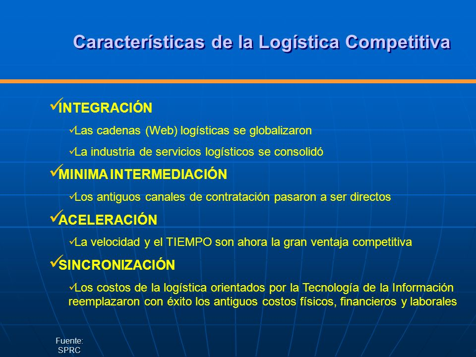 Características de la Logística Competitiva