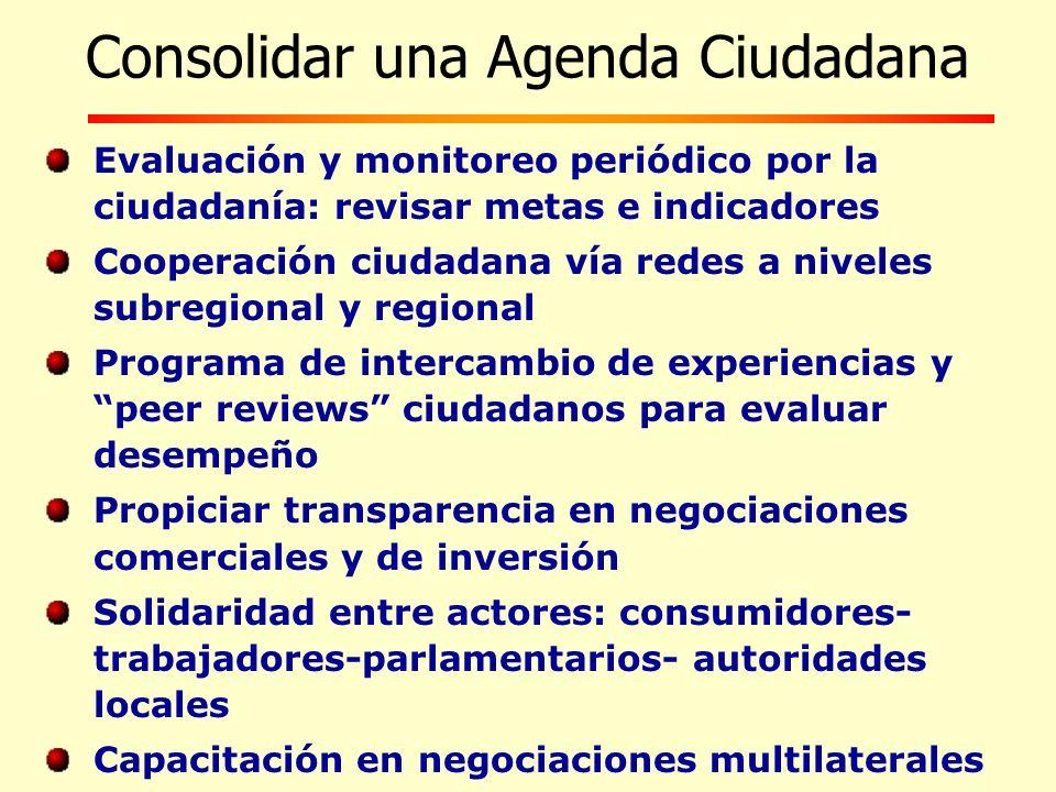 Consolidar una Agenda Ciudadana
