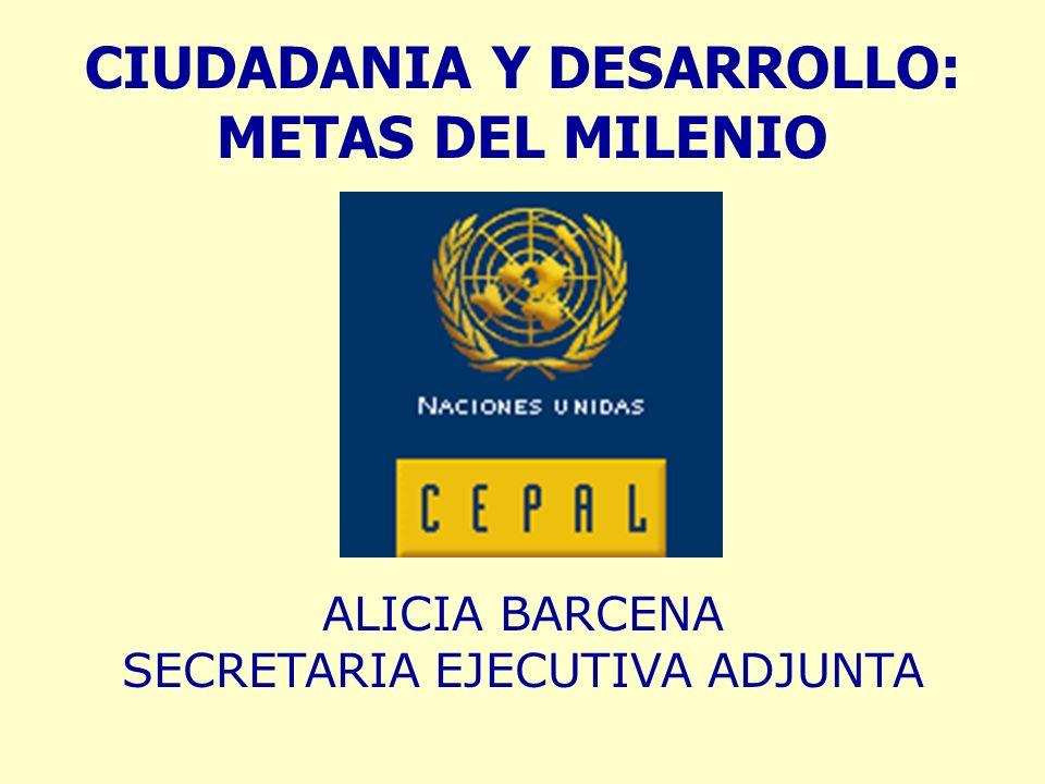CIUDADANIA Y DESARROLLO: METAS DEL MILENIO