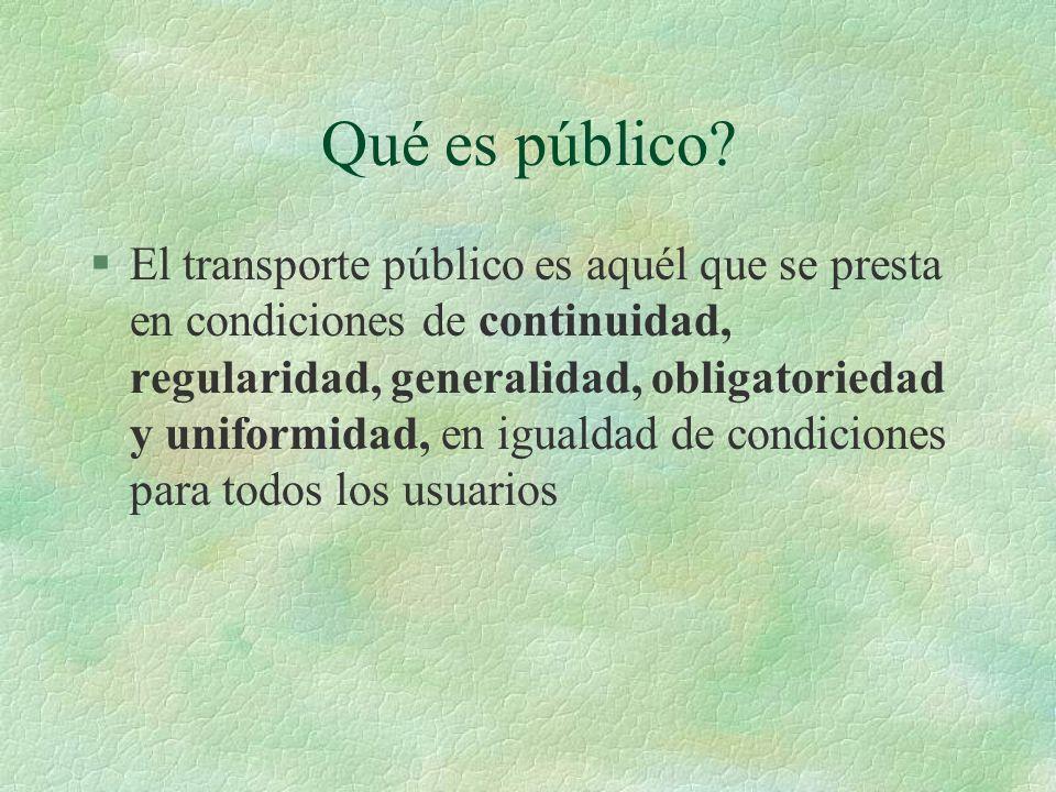 Qué es público