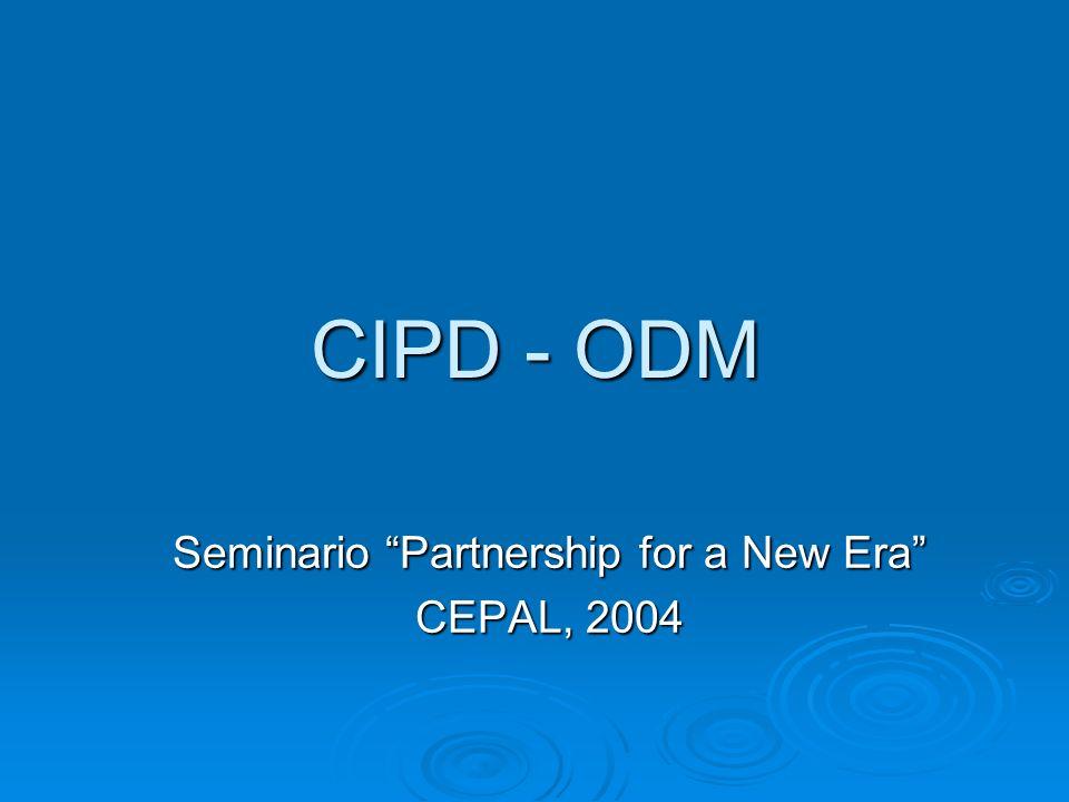 Seminario Partnership for a New Era CEPAL, 2004
