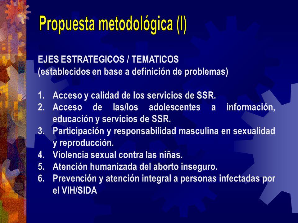 Propuesta metodológica (I)