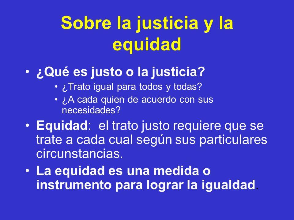 Sobre la justicia y la equidad