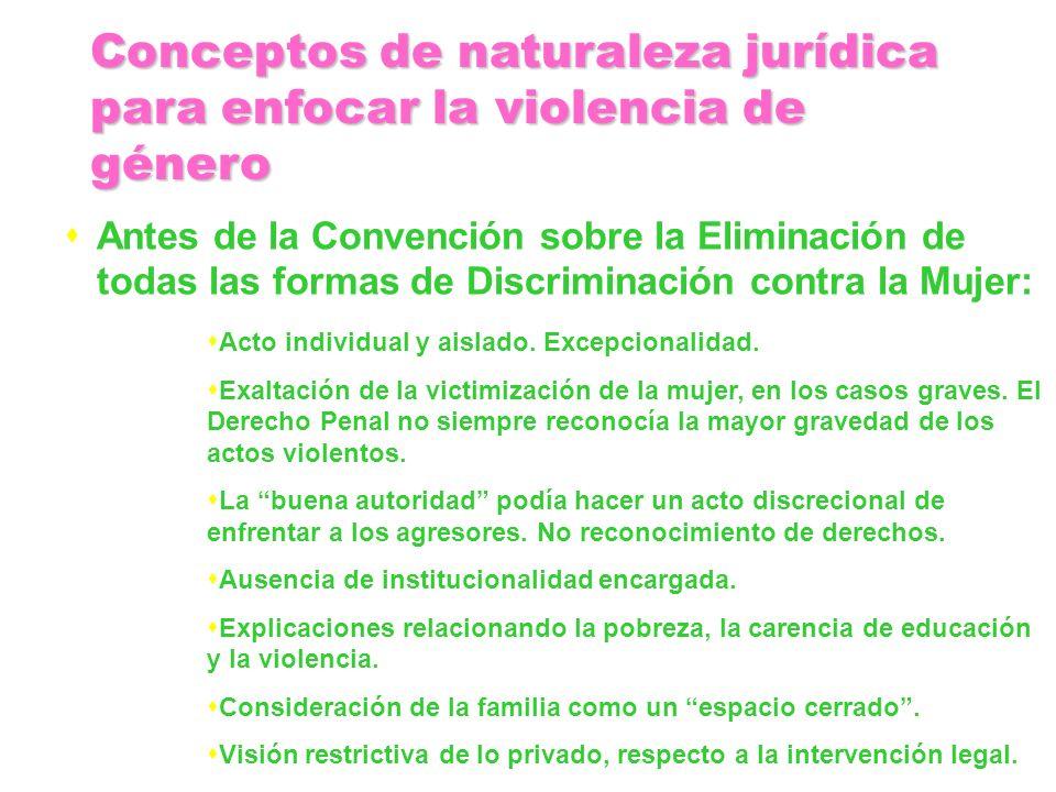 Conceptos de naturaleza jurídica para enfocar la violencia de género
