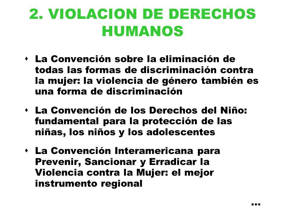 2. VIOLACION DE DERECHOS HUMANOS