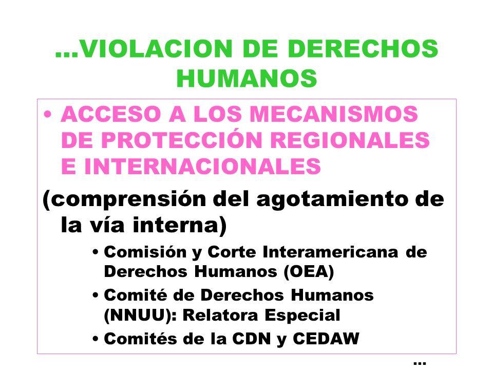 ...VIOLACION DE DERECHOS HUMANOS