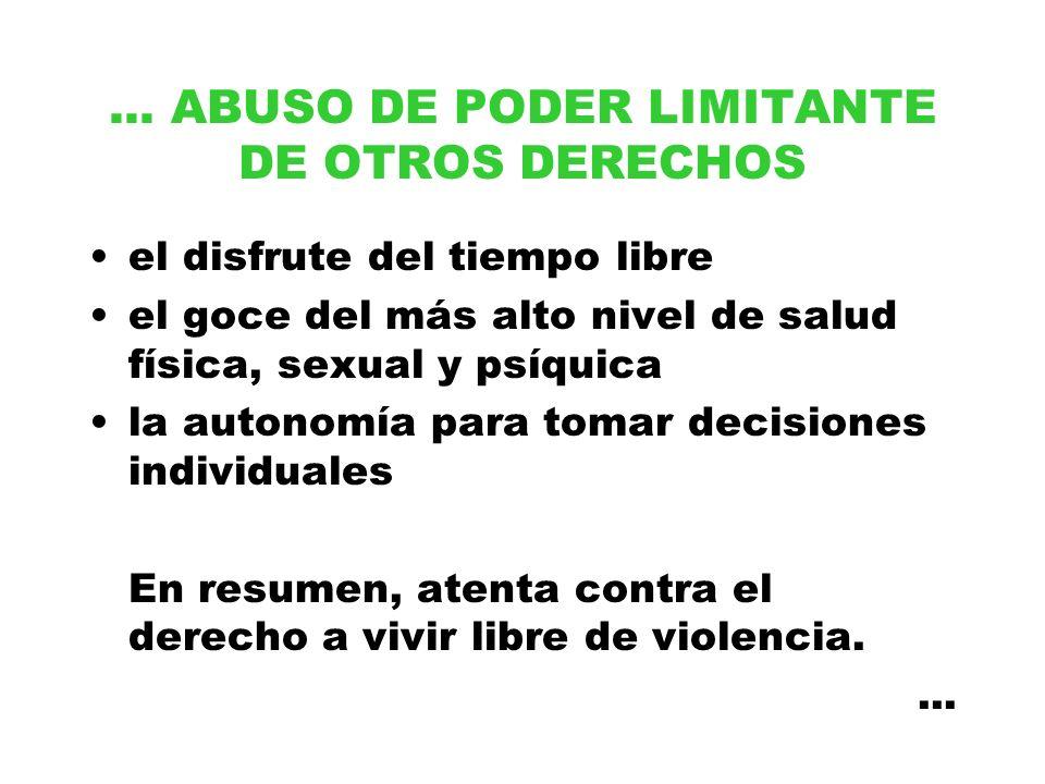 ... ABUSO DE PODER LIMITANTE DE OTROS DERECHOS