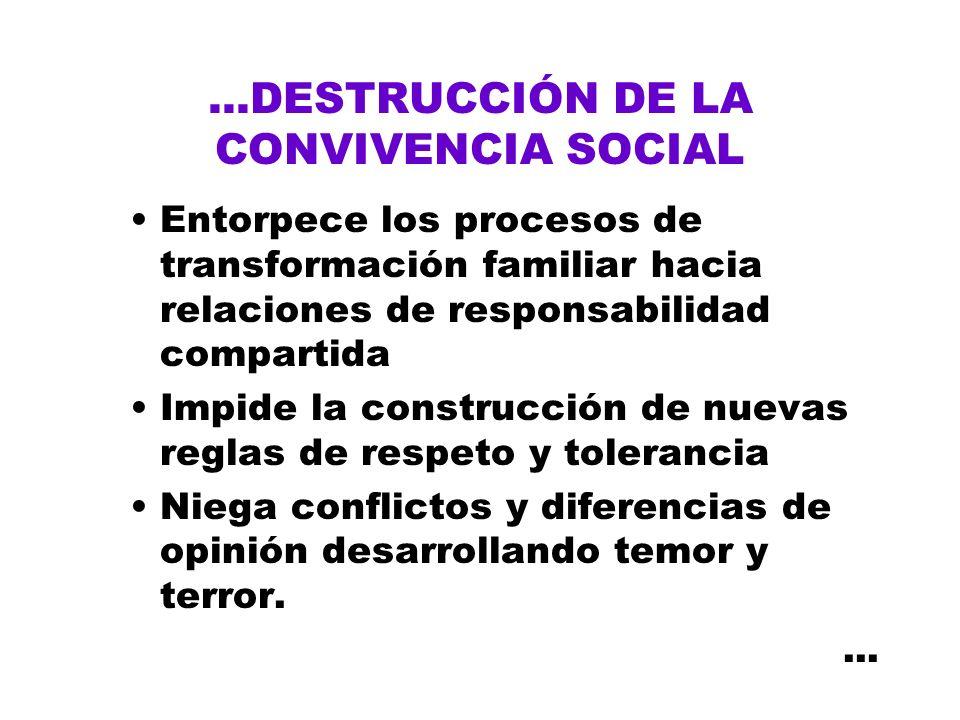 ...DESTRUCCIÓN DE LA CONVIVENCIA SOCIAL