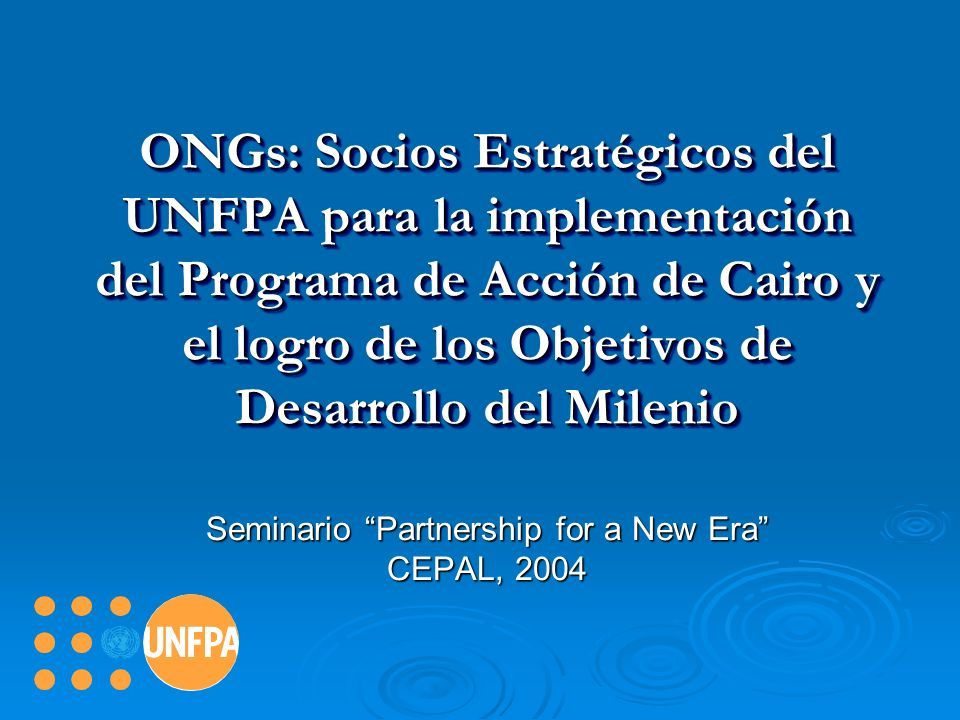 Seminario Partnership for a New Era CEPAL, 2004