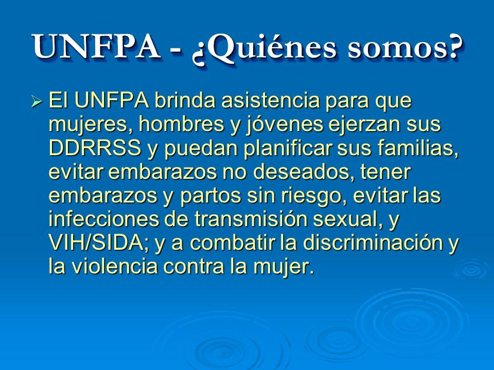 UNFPA - ¿Quiénes somos