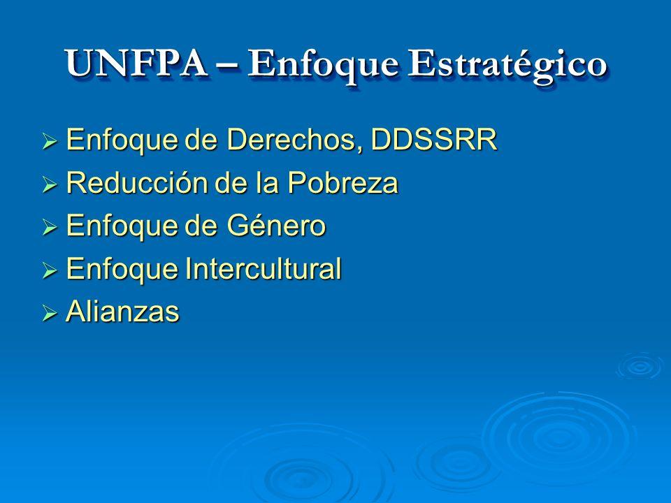 UNFPA – Enfoque Estratégico