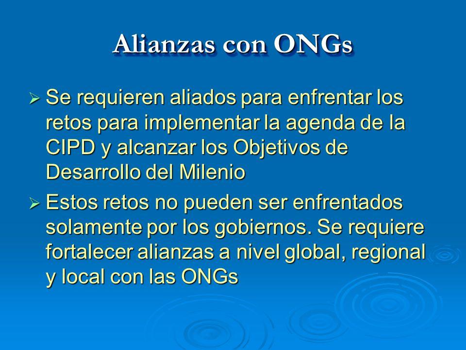 Alianzas con ONGs
