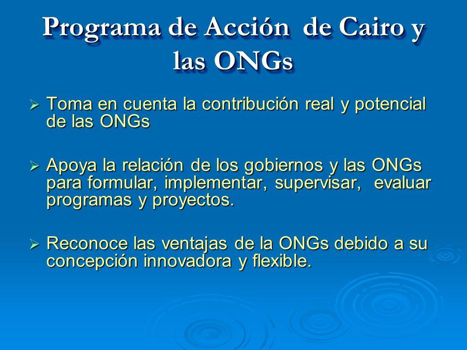 Programa de Acción de Cairo y las ONGs
