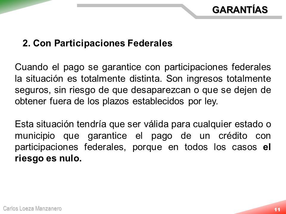 GARANTÍAS 2. Con Participaciones Federales.