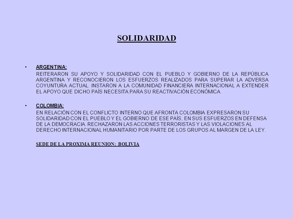 SOLIDARIDAD ARGENTINA: