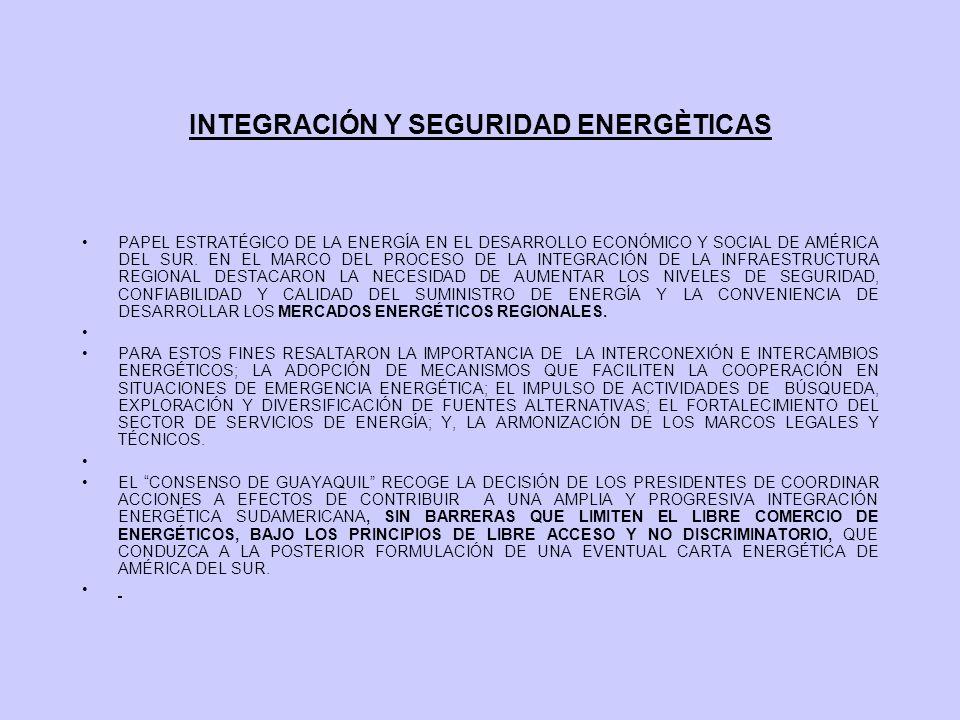 INTEGRACIÓN Y SEGURIDAD ENERGÈTICAS